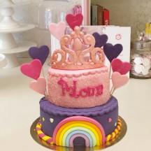 Gâteau Couronne Princesse POP