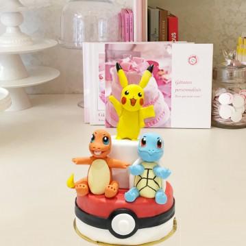 Gâteau Pokemon Pikachu, Salameche et Carapuce