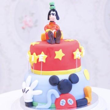 Gâteau La Maison de Mickey Rouge