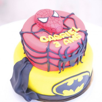 Gâteau Spiderman & Batman